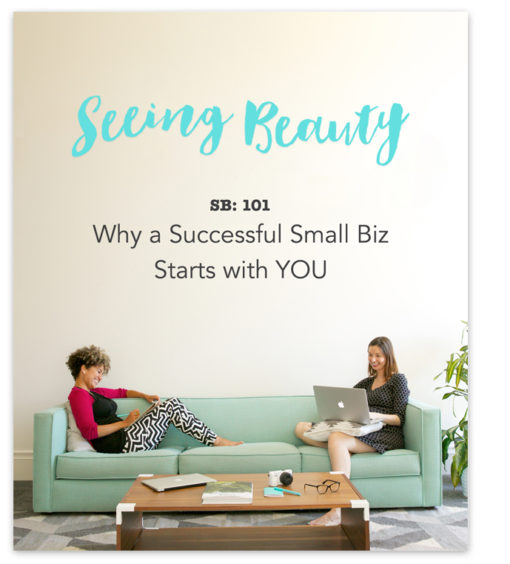 Small Business Success course by seeing beauty
